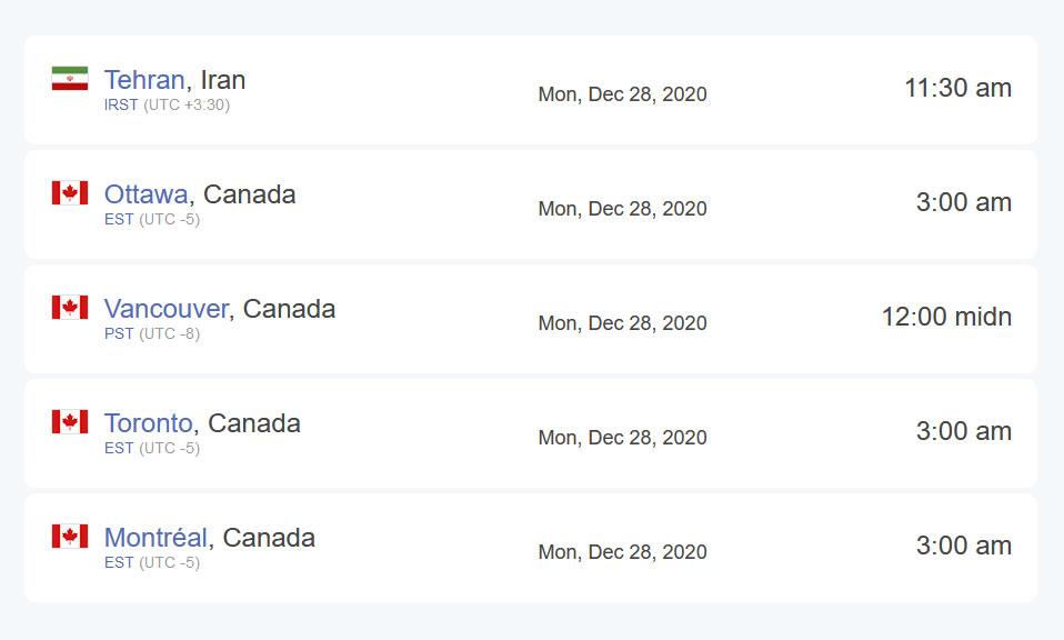 تفاوت سایت بین ایران و کانادا