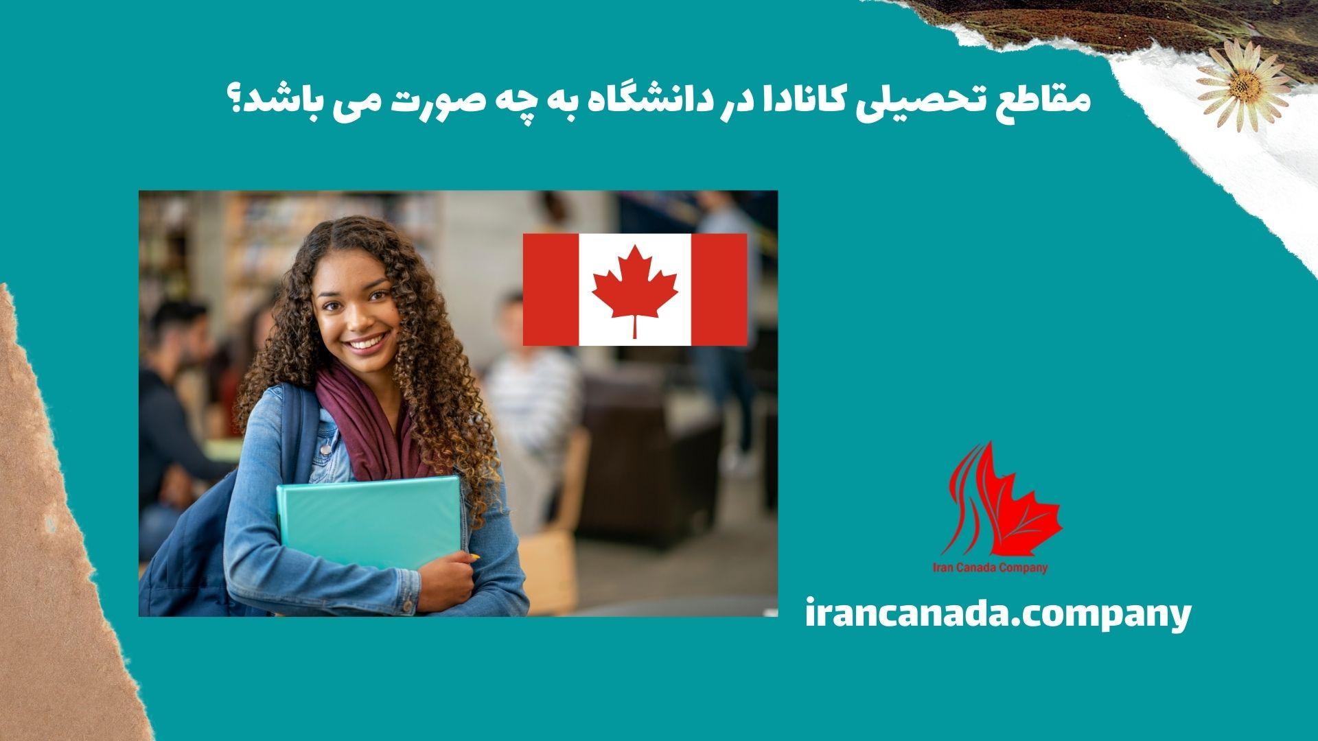 مقاطع تحصیلی کانادا در دانشگاه به چه صورت می باشد؟